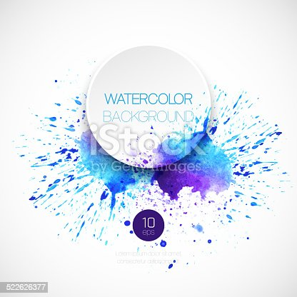 605740894 istock photo Watercolor background. Vector illustration 522626377