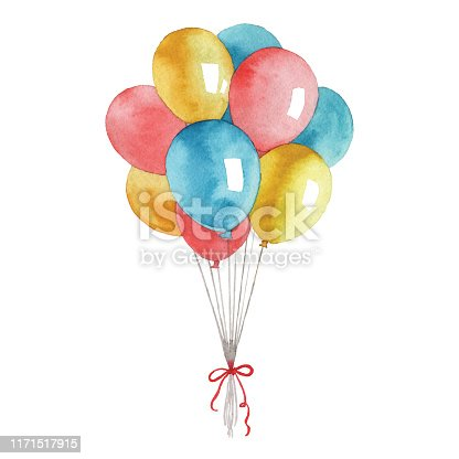 Vector illustration of balloons.