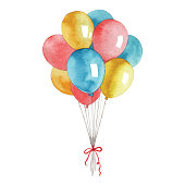 Vector illustration of balloons.