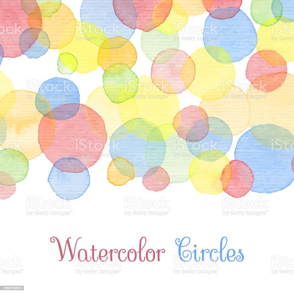 Watercolor banners vector art illustration