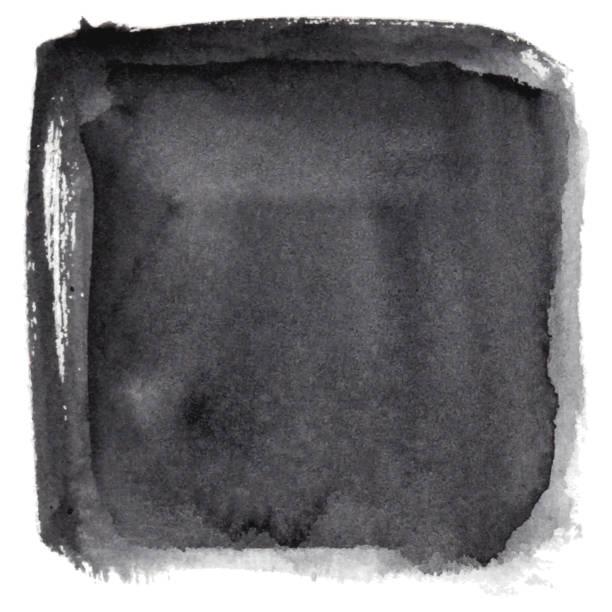 Watercolor black background vector art illustration