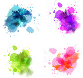 Watercolor blots