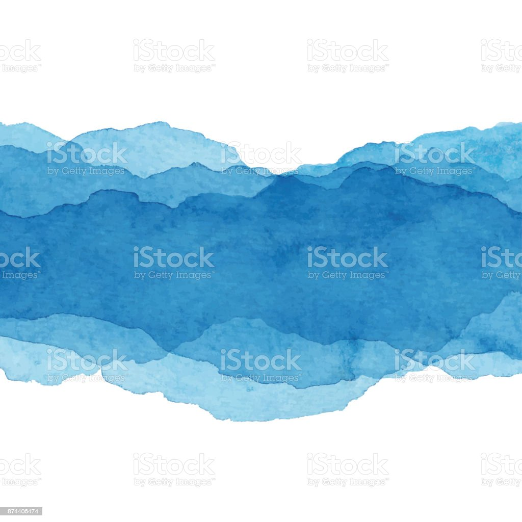 Watercolor Blue Abstract Background vector art illustration