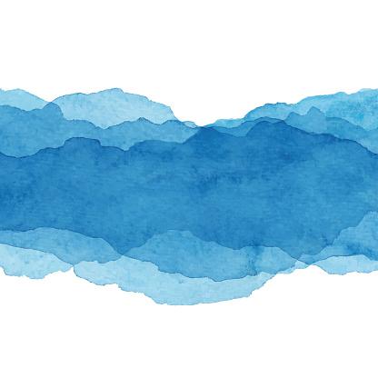워터컬러 파란색 추상적인 배경 0명에 대한 스톡 벡터 아트 및 기타 이미지