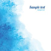 Watercolor blue angle background texture