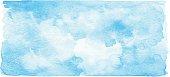 Watercolor Blue Banner