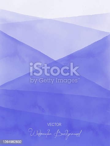 Watercolor Blue Gradient Abstract Background. Design Element for Marketing, Advertising and Presentation. Can be used as wallpaper, web page background, web banners.