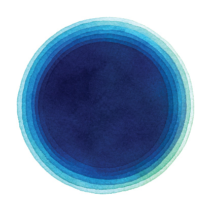 Watercolor Blue Gradient Circle Background