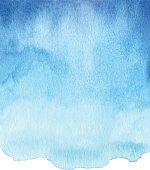 Vector illustration of blue waterolor background.