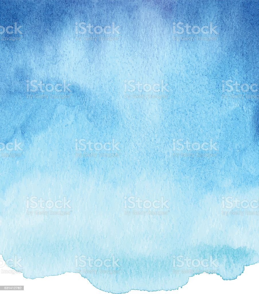 Watercolor Blue Gradient vector art illustration