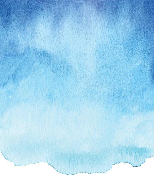 Aquarelle bleu Gradient - Illustration vectorielle