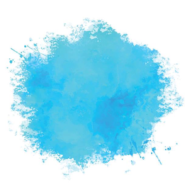 ilustrações, clipart, desenhos animados e ícones de tinta aquarela azul coloração - planos de fundo borrados
