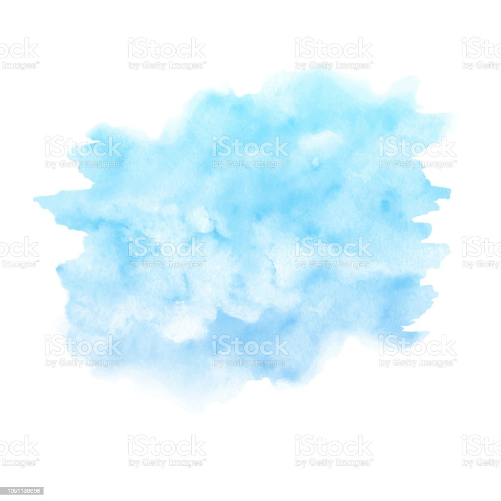 Watercolor blue paint texture isolated on white background. Abst royalty-free watercolor blue paint texture isolated on white background abst stock illustration - download image now