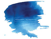 Watercolor Paints, Watercolor Painting, Blue, Textured