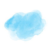 istock Watercolor blue stain texture. Vector 1192151494