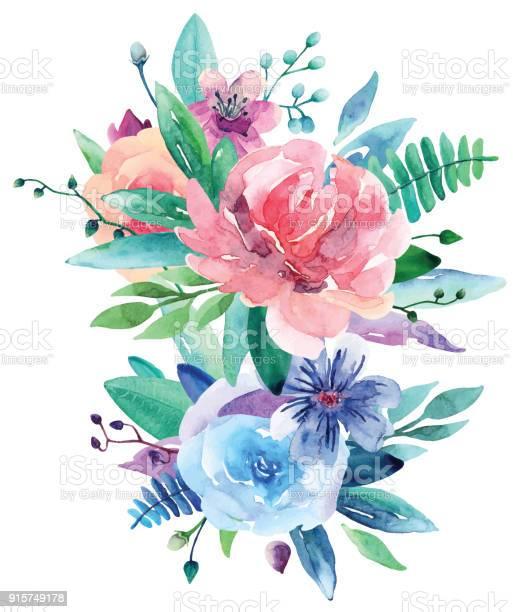 Watercolor bouquet vector clip art vector id915749178?b=1&k=6&m=915749178&s=612x612&h=x likuehwjwzfxbb4gg w dejiaj1qubiqebkp1dlf0=
