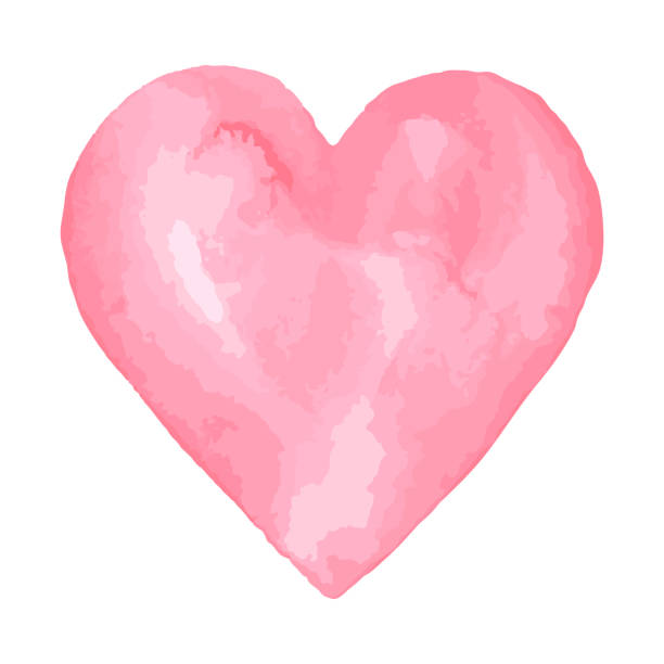 aquarellpinsel herz. zusammenfassung hintergrund rosa aquarell - hände wasser waschen stock-grafiken, -clipart, -cartoons und -symbole