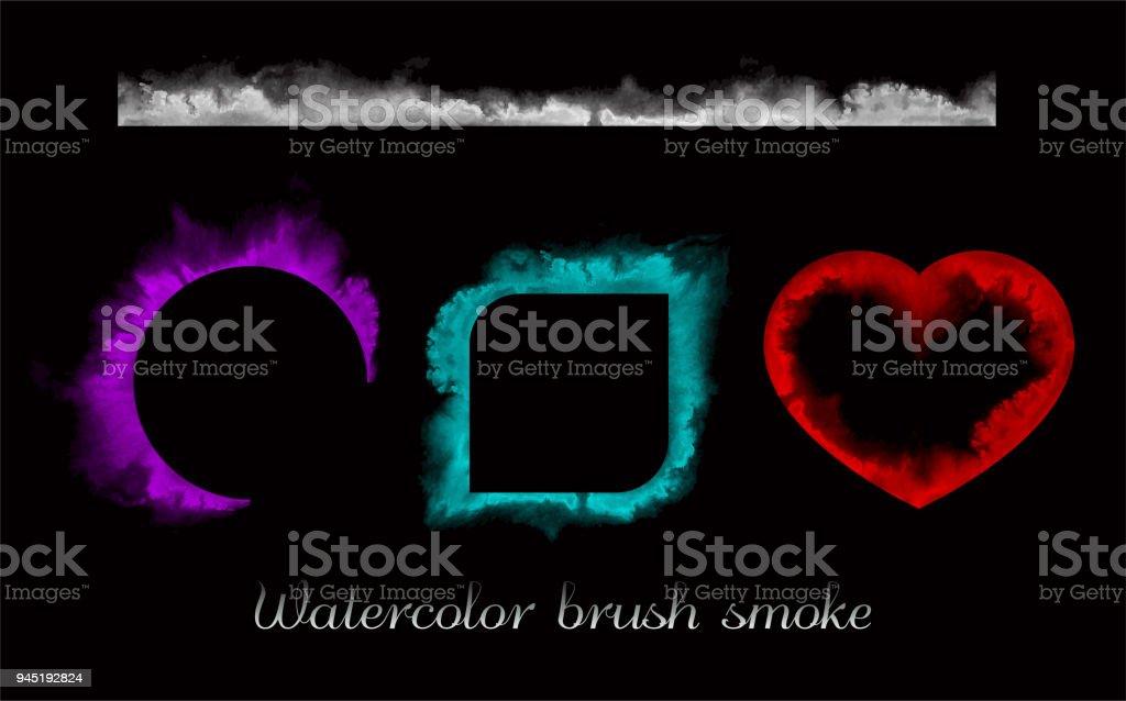 Watercolor Brush Smoke Stock Vector Art & More Images of