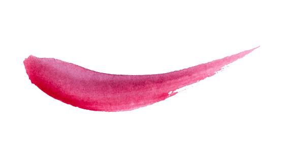 Watercolor brush stroke