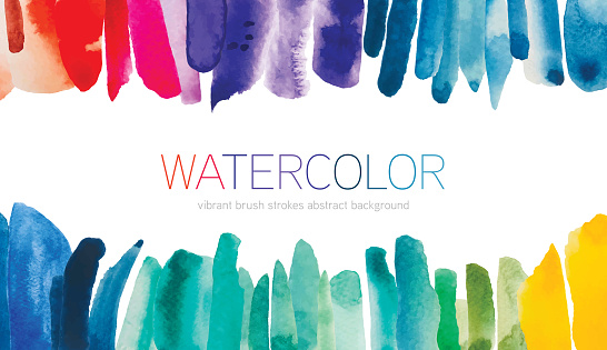 Watercolor Brush Strokes Abstract Background