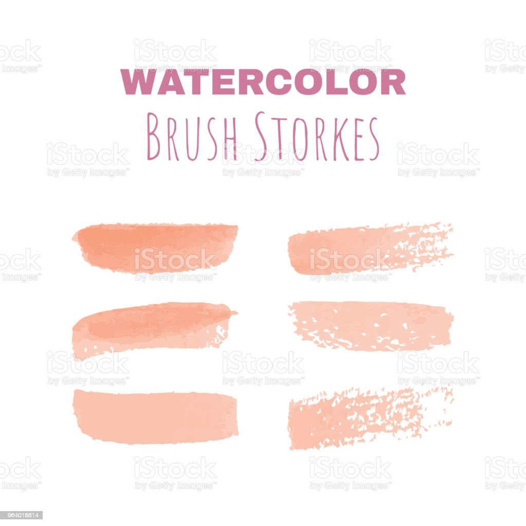 Watercolor brush strokes for designs and drawings - Royalty-free Art stock vector