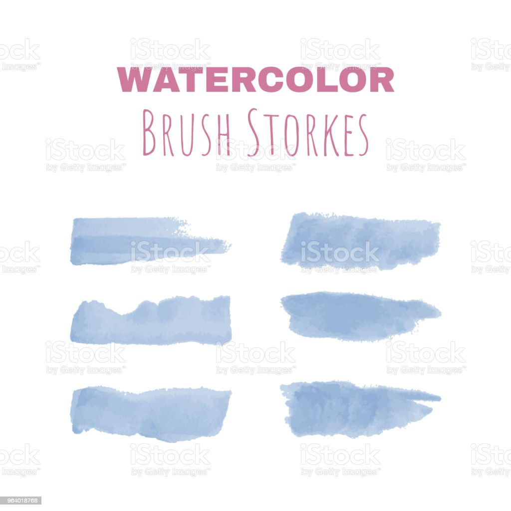 Watercolor brush strokes for vector drawings and designs - Royalty-free Art stock vector