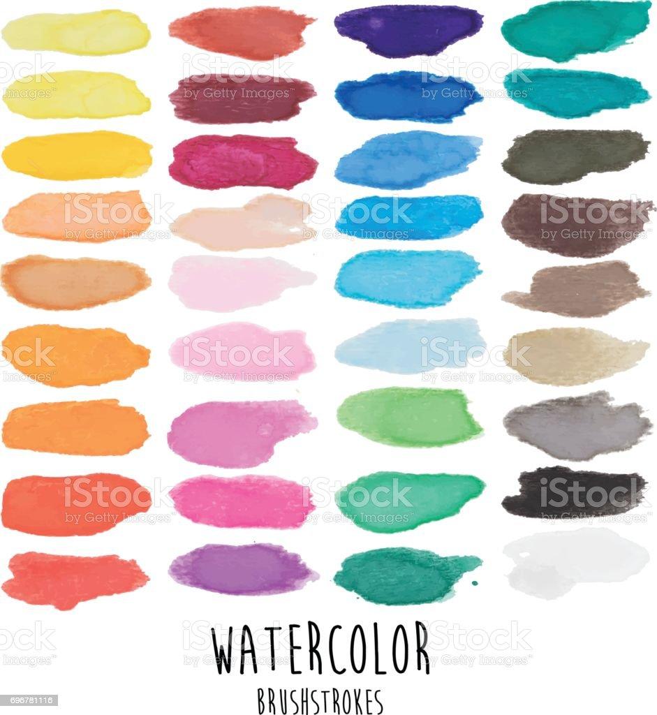 Watercolor Brushstrokes - Illustration vector art illustration