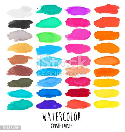 A vector illustration of watercolor brushstrokes.