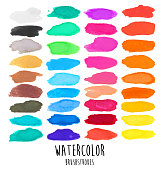 A vector illustration of watercolor brushstrokes.