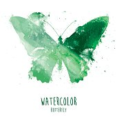 istock Watercolor Butterfly - Illustration 802793600