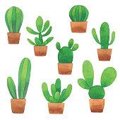 Vector illustration of cute cactus.