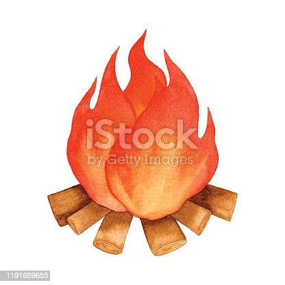 Vector illustration of campfire.