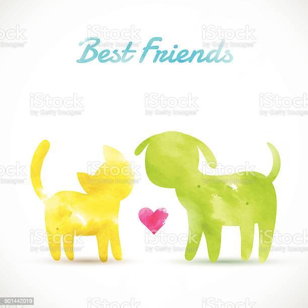 Watercolor cat and dog silhouettes vector id501442019?b=1&k=6&m=501442019&s=612x612&h=lbias jrrh8tnu9mpstapkcuhu5l x15izzkm zexu8=