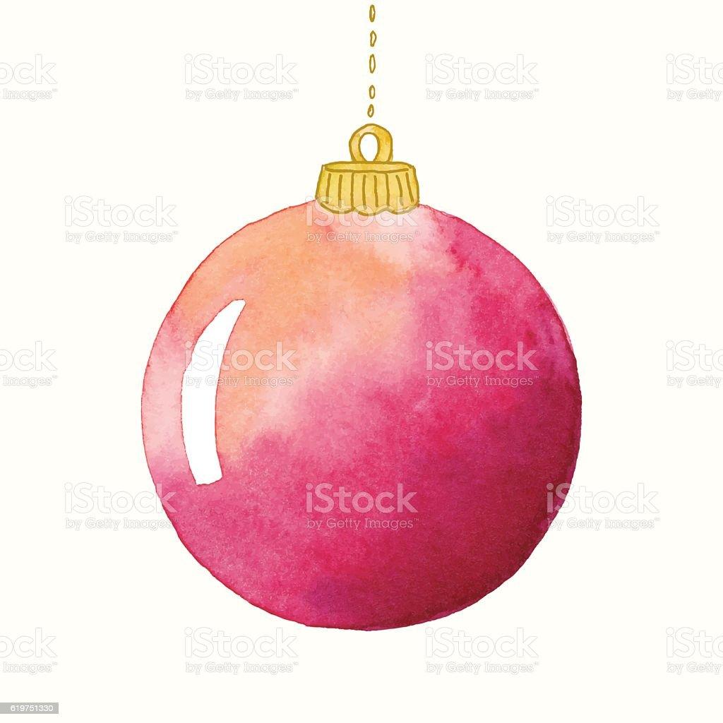 Watercolor Christmas Ornament Stock Vector Art & More ...