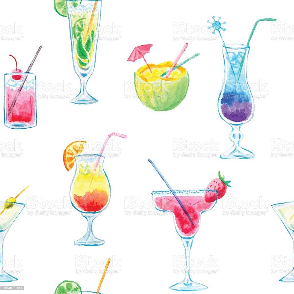 Acquerello cocktail - illustrazione arte vettoriale