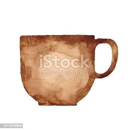istock Watercolor Coffee Mug 1074926806