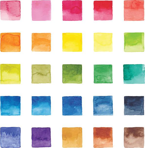 stockillustraties, clipart, cartoons en iconen met watercolor color chart - kleurenwaaier