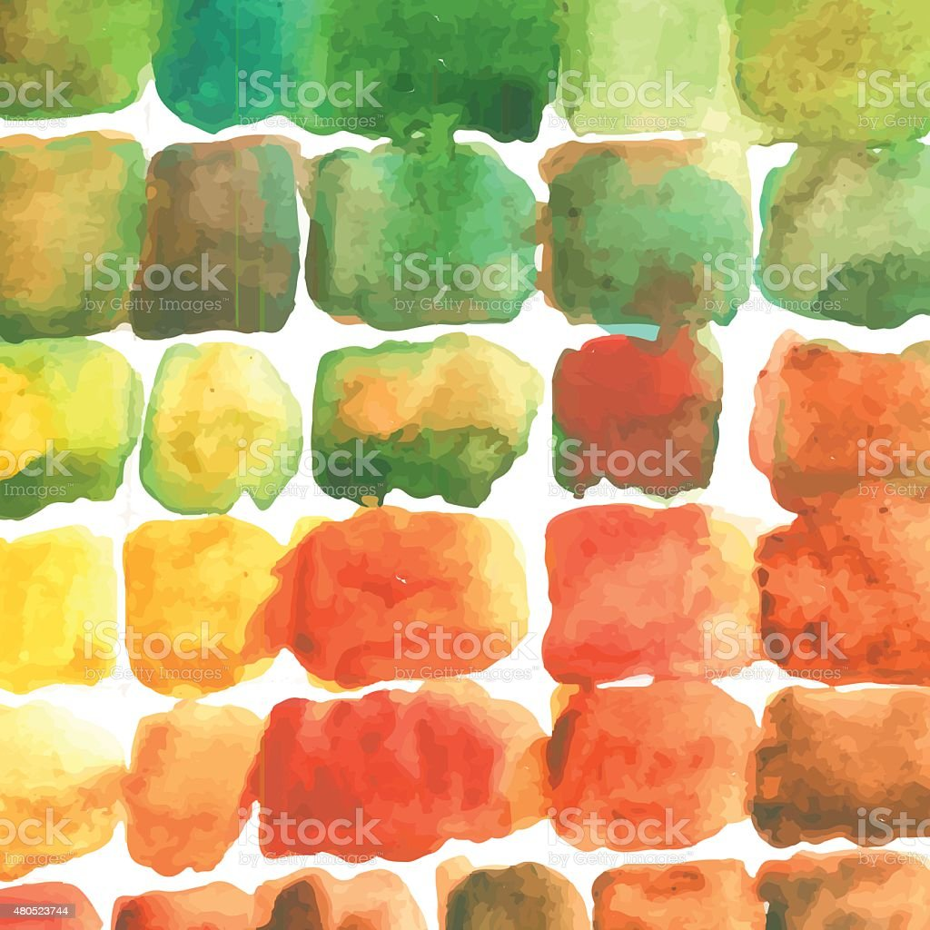 Watercolor color stains pattern vector art illustration
