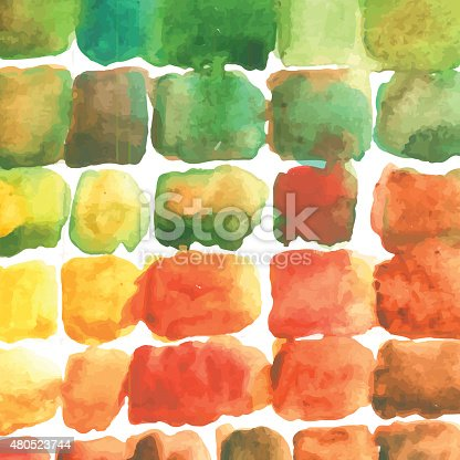 Watercolor Color Stains Pattern Stock Vector Art & More Images of 2015 480523744