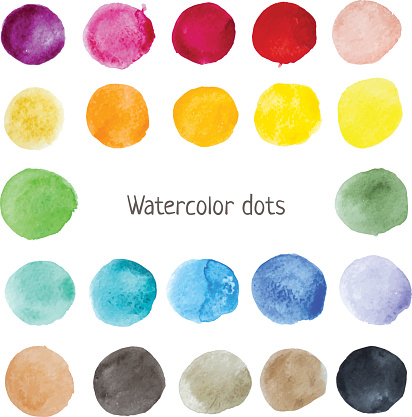 Watercolor color stains