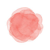 istock Watercolor Coral Dots background 1137515007