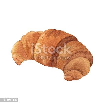 istock Watercolor Croissant 1171517889