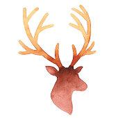 Vector illustration of deer head.