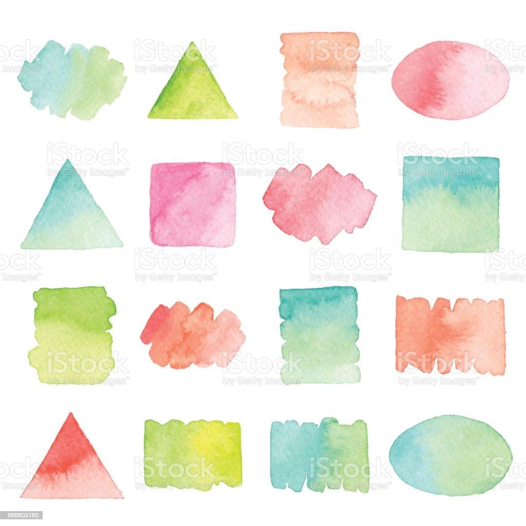Watercolor Design Elements - illustrazione arte vettoriale