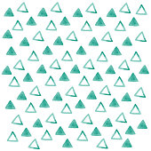 istock Watercolor Design Material Green Triangle Pattern 1263374483