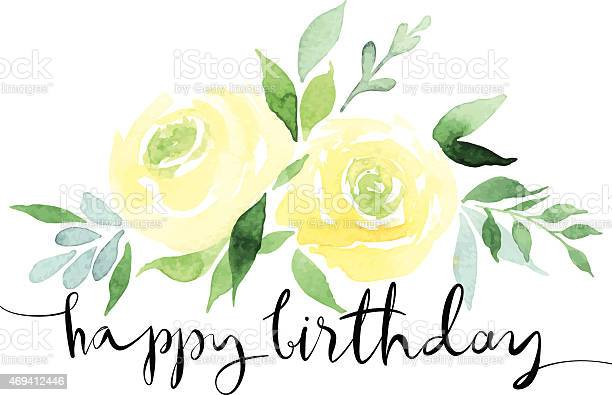 Watercolor design of yellow roses with happy birthday vector id469412446?b=1&k=6&m=469412446&s=612x612&h=swkkghohao0ntyfrvqlrlkbqjxuv352q70waxomfk c=
