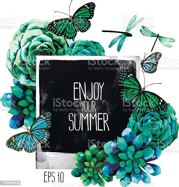 Watercolor design with succulents photo butterflies and dragonflies vector id479598408?b=1&k=6&m=479598408&s=612x612&h=wvfppovb9zirunlr pnfx6omzxgee8t7stg gnrfe4m=