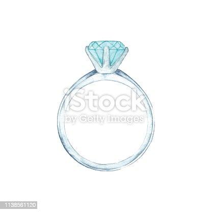 Vector illustration of diamond ring.