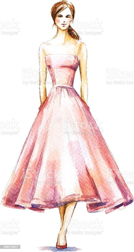 рисунок девушки красками в полный рост термобелья Craft