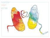 watercolor fashion sneakers